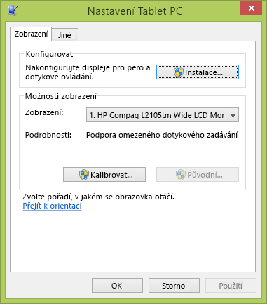 Nastavení Tablet PC