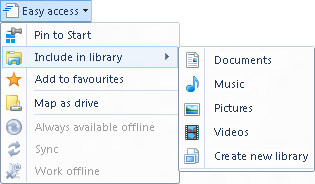 Including a folder in a library