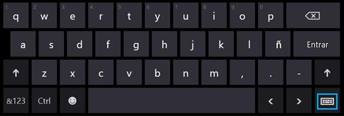 Botón del teclado táctil