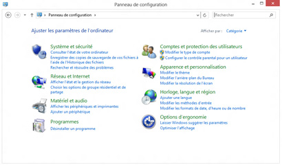 Panneau de configuration
