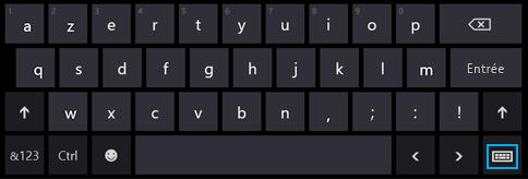 Bouton du clavier tactile sur le clavier tactile