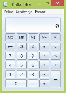 Prozor kalkulatora