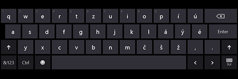 Dotyková klávesnica